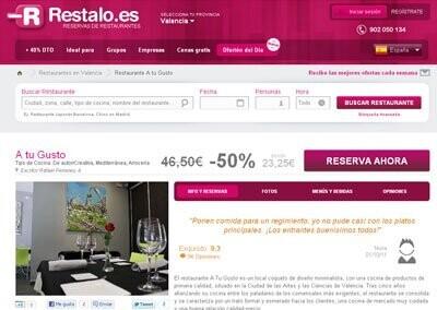 Restaurante A tu Gusto en Valencia, en Restalo.es