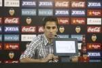 Jonas, en la rueda de prensa posterior al Valencia - Bayer Leverkussen