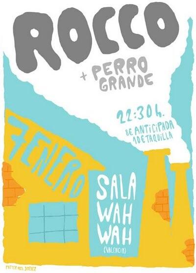 Cartel del Concierto de Rocco en Valencia, enero de 2012