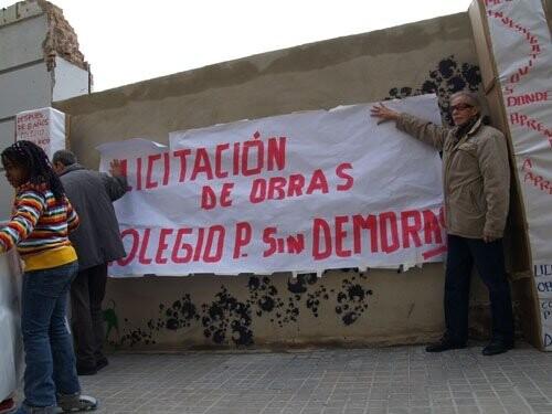 colegio protesta
