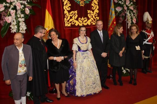 Recepción en la Exaltación de la Fallera Mayor de Valencia 2012