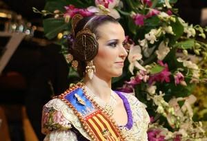 Sandra Muñoz, Fallera Mayor de Valencia 2012, en su Exaltación
