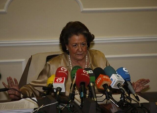 Rita Barberá anuncia el cierre de TMV