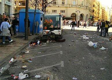 Servicio de limpieza viaria en Fallas