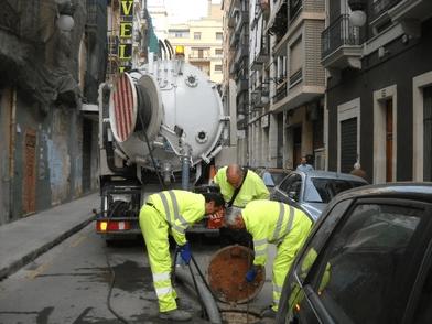 limpieza red de saneamiento