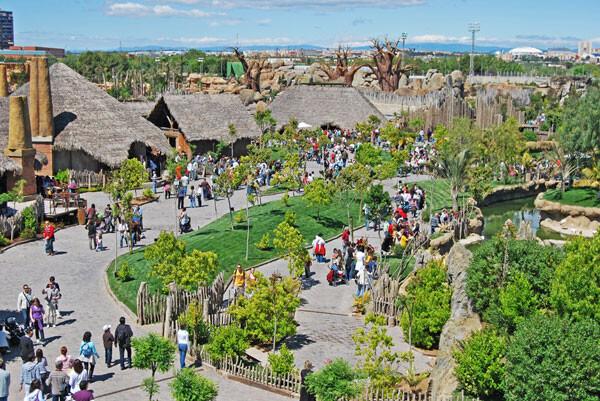 Bioparc Valencia, panorámica general del zoológico