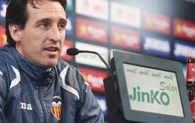 Emery en la rueda de prensa previa al Barça - Valencia en Copa