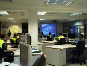 Sala del 092 de la Policía Local de Valencia