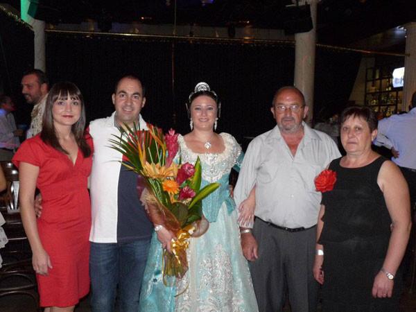 Marta Montero, Fallera Mayor 2012 de Pintor Pascual Capuz - Fontanares, en su proclamación