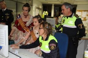 Homenaje de la Policía Local a las Falleras Mayores de Valencia 2012