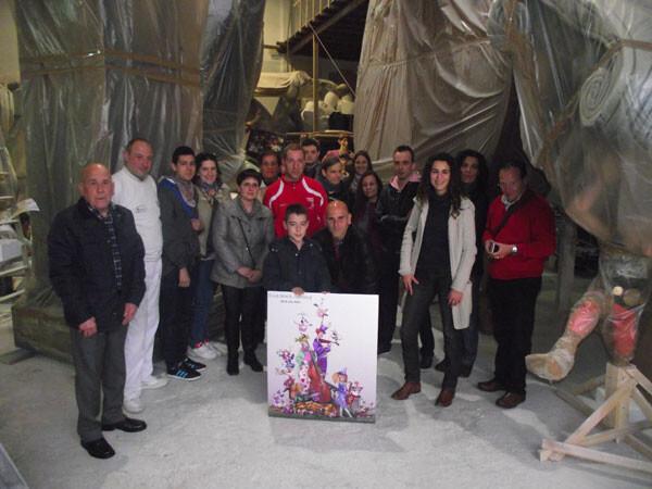 Los ganadores del 'Más difícil Todavía' han disfrutado de la visita guiada al taller de Almirant