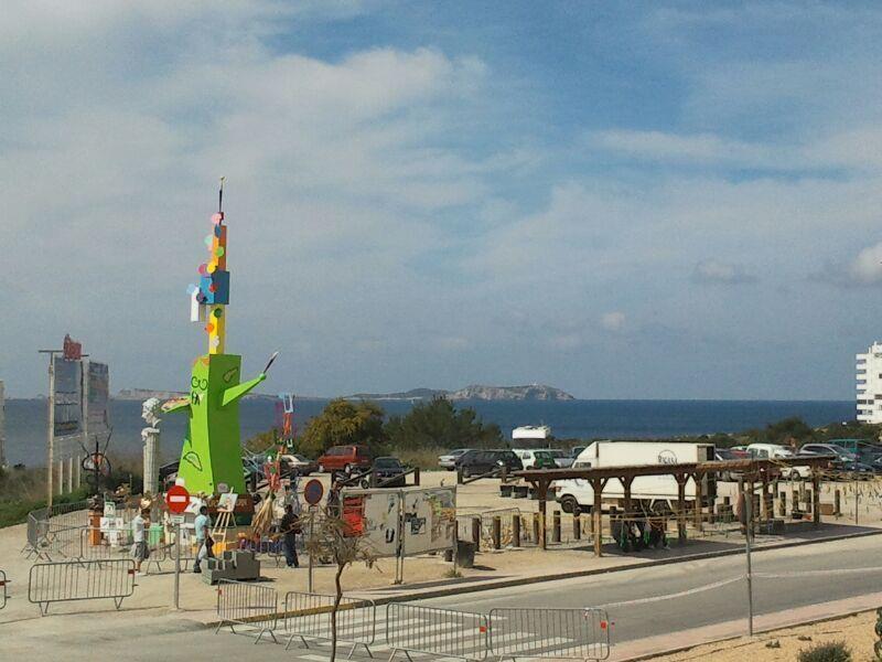 La falla de juanjo garcia en Ibiza/foto: a.f.