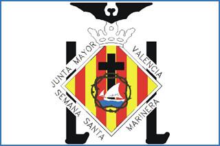 Escudo de la junta mayor de la semana santa marinera de valencia