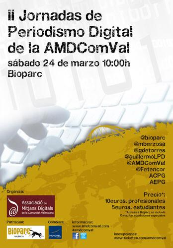 Bioparc será punto de encuentro del periodismo digital en las II Jornadas de AMDComVal