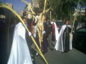 Cristo de la Palma en la Semana Santa Marinera