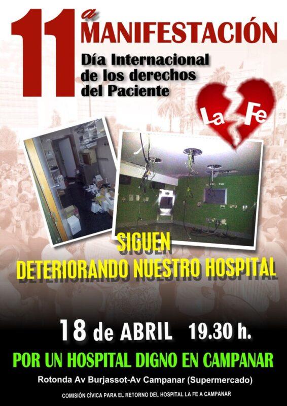 Cartel de la manifestación de mañana por las calles de Campanar