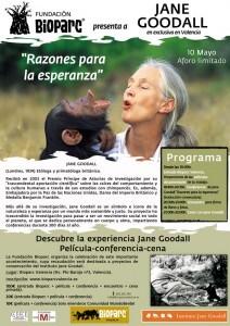 Jane Goodall el 10 de mayo en Bioparc Valencia