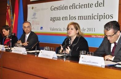 La concejala Ramón-Llín en una conferencia
