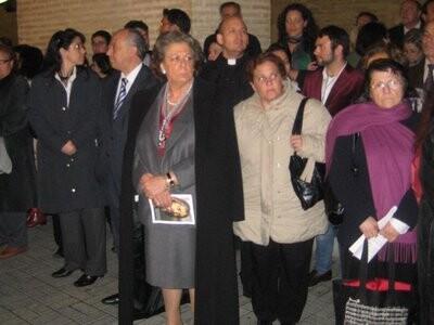 La alcaldesa en la visita a la Semana Santa Marinera de 2010/EOS