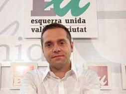 El portavoz de EU, Amadeu Sanchis.