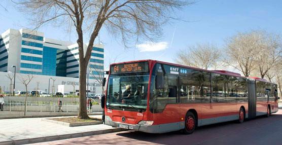 Un bus de la línea 64 de la EMT similar al que tuvieron lugar los hechos el martes.