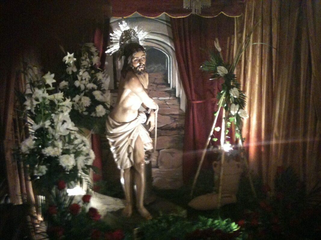 El Jesús en la Columna en la casa donde se ha venerado ésta Semana Santa y de donde saldrá ésta tarde./v.s.