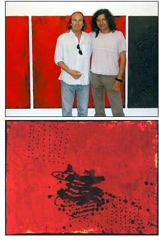 El artista Guillem Nadal a la derecha con otro artista.
