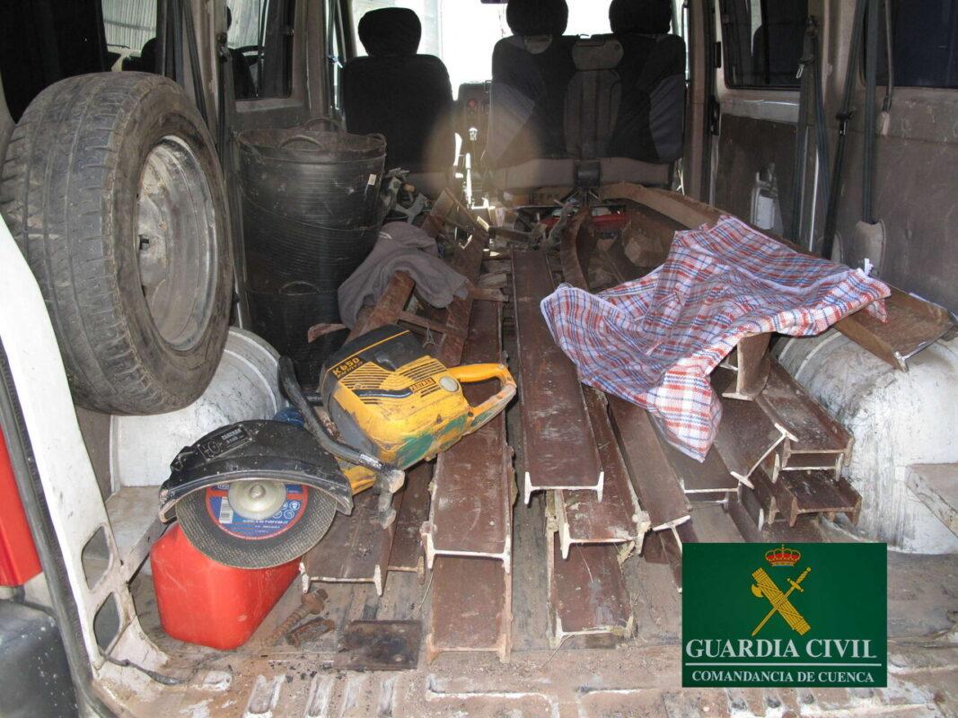 Objetos robados recuperados a los autores del incendio