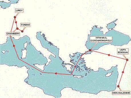 Itinerario de la Sábana Santa por distintas ciudades
