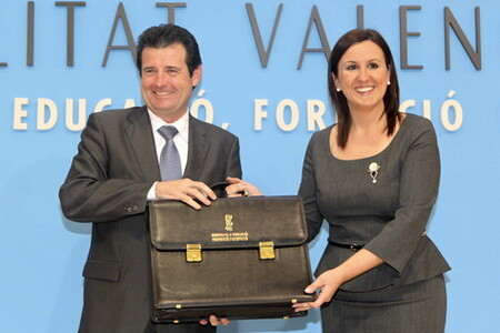 María José Catala cuando se hizo cargo de la Conselleria de Educación