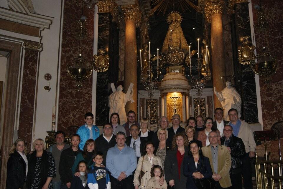 Un grupo de eixidors en la misa que hicieron ayer en la Basilica