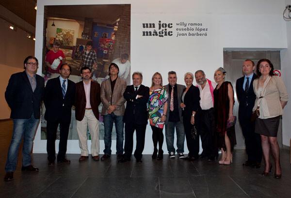 Inauguración en la Sala Parpalló del MuVIM de la exposición colectiva 'Un joc màgic' de Willy Ramos, Eusebio López y Juan Barberá