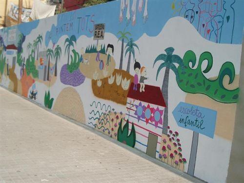 Mural que hicieron el año pasado los vecinos de Natzaret/coordinadora vecinal