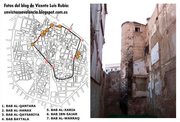 La Torre del Ángel, en la Plaza del mismo nombre en el Barrio del Carmen de Valencia