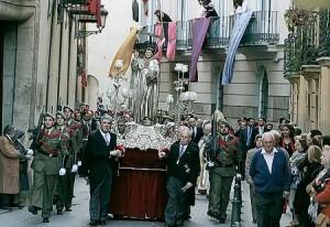 Procesión cívica de San Vicente Ferrer por las calles del centro de Valencia