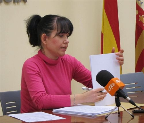 La concejala Rosa Albert de EU en la sala de prensa del ayuntamiento