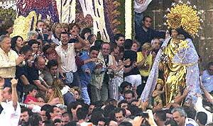 Traslado de la imagen de la Virgen de los Desamparados, Valencia