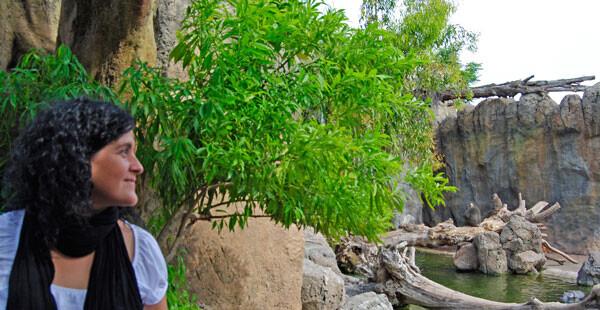 Ainare Idoiaga visitando los bosques ecuatoriales en Bioparc Valencia