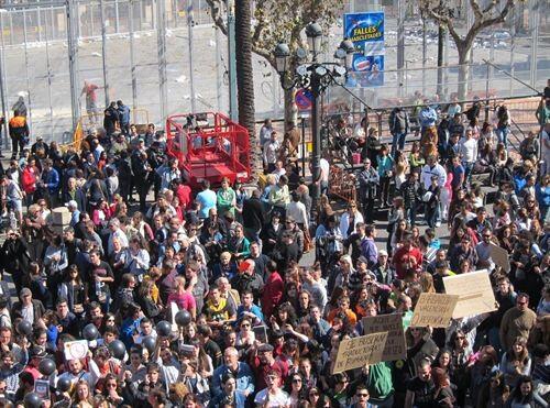 Fallas. Protestas