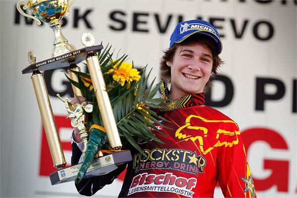Jorge Zaragoza, podium en Bulgaria. Motocros MX125