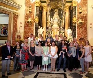 Un grupo de seguidores durante la fiesta del año pasado en la Basilica/j.peiró
