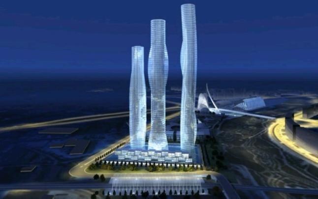 Valencia. proyecto torres Calatrava