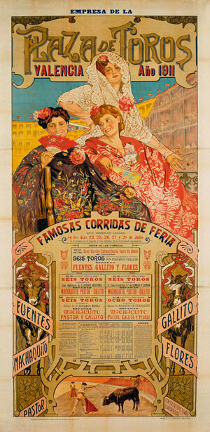 Cartel taurino del año 1911