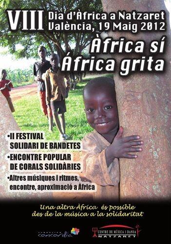 Cartel de las jornadas sobre África en Nazaret