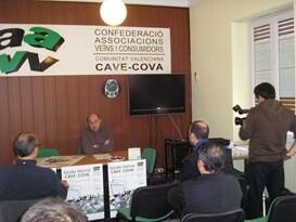 El presidente de Cavecova, Juan Antonio Caballero, en un acto en la antigua sede./vlc