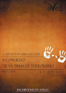 Cartel del II congreso de terrorismo