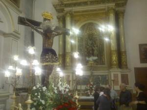 Imagen del Cristo de la Fe en el interior de la iglesia de Santa Mónica/vlcciudad
