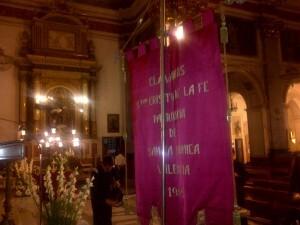 Imagen del estandarte de la Cofradía del Cristo de la Fe/Vlcciudad