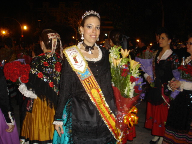 La Dulcinea de Castilla-La Mancha en la Ofrenda de Flores a la Virgen de los Desamparados.