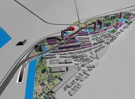Imagen del diseño inicial de como quedaría la zona con las torres ahora descartadas